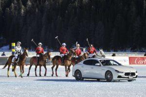 Snow polo St. Moritz presentazione del Team Cartier preceduta dalla Maserati ghibli foto credit: gpiazzophotography