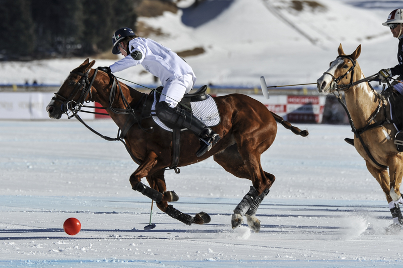 On the icy lake of St. Moritz, took place the Snow Polo World Cup St. Moritz, the largest polo tournament played on snow.