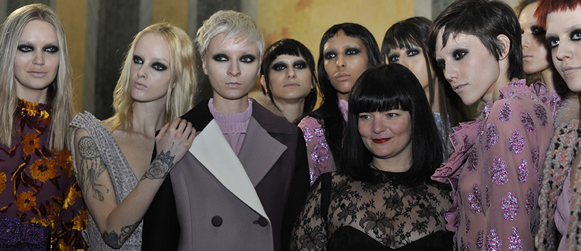 Models and Daizy Shely after Show in Milan credit GPiazzophotography Gaetano Piazzolla