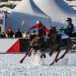 On the frozen lake of St. Moritz, the Snow Polo World Cup took place every year, as tradition dictates. St. Moritz is a place unlike any in the world