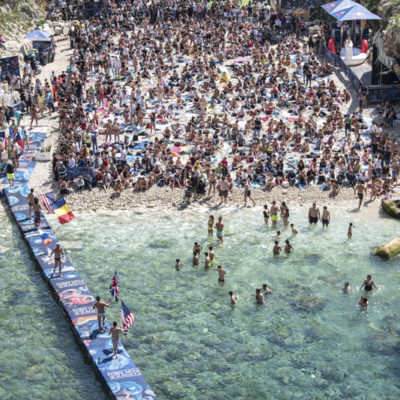 Opening ceremony during the final competition day of Red Bull Cliff Diving World Series 2019 Stop 3 - Polignano a Mare, Italy, on June 2, 2019 // Elena Mancini / Red Bull Content Pool // AP-1ZHAZWN9N2111 // Usage for editorial use only // Please go to www.redbullcontentpool.com for further information. //