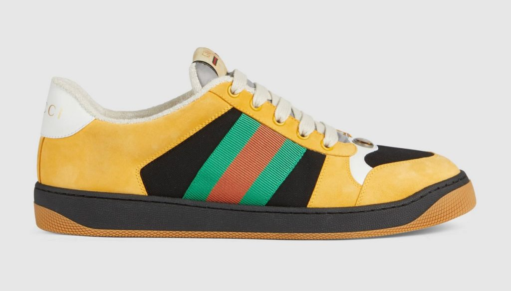Sneaker Screener uomo in camoscio di Gucci
