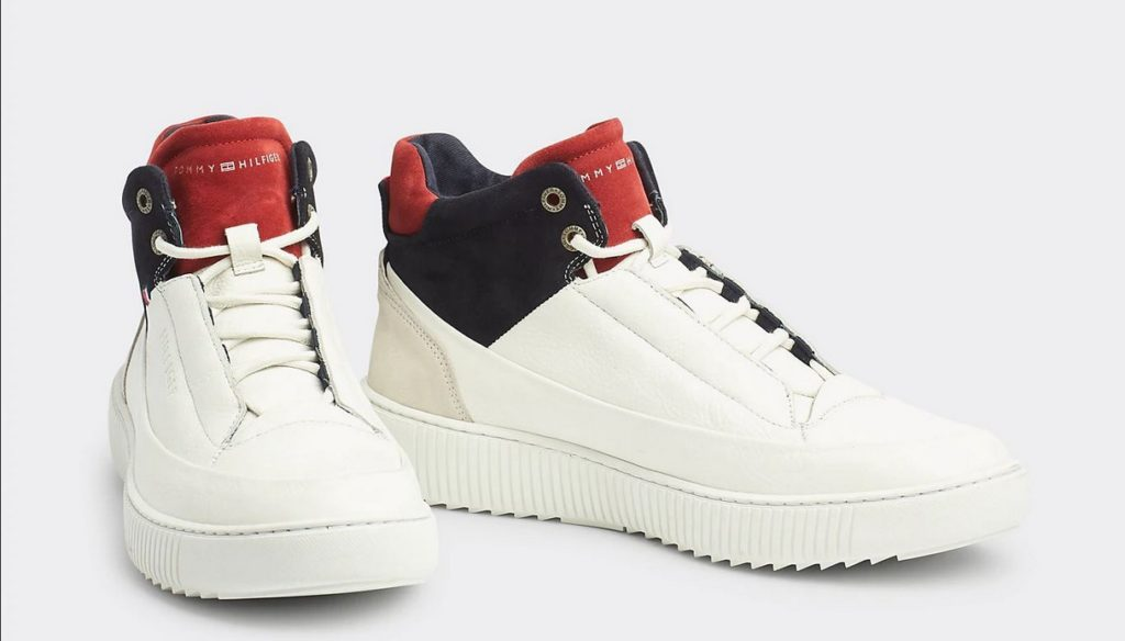 Sneakers in pelle color block di Tommy Hilfiger