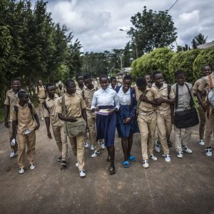 Officially, every year, Ivory Coast records more than 3,000 unwanted pregnancies in schools. They are actually much more numerous. PHOTO OLIVIER PAPEGNIES / COLLECTIF HUMA