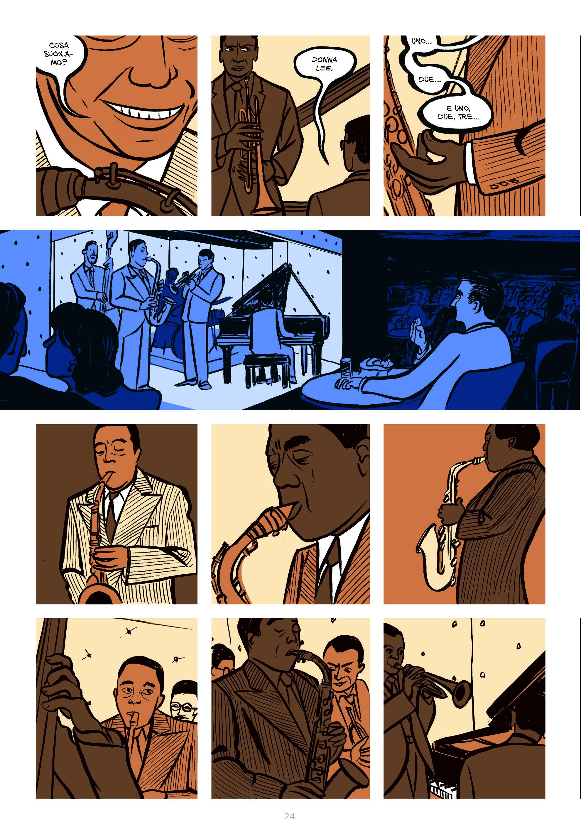 """Il Blue Note Milano in collaborazione con il festival JAZZMI, ospita la mostra """"Miles. Assolo a Fumetti"""", del fumettista, grafico e disegnatore Lucio Ruvidotti."""