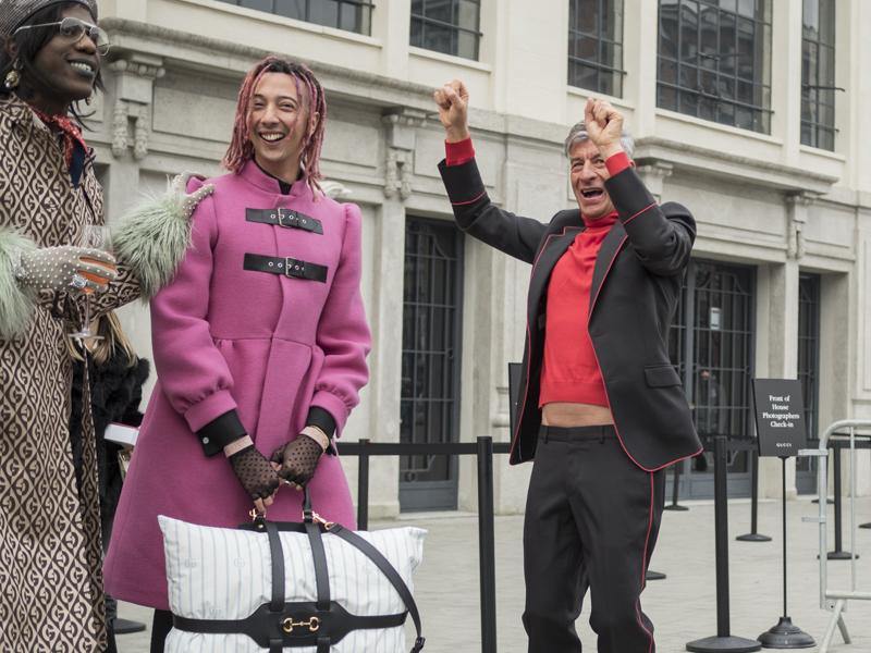 Alessandro Michele, direttore creativo di Gucci, torna al Palazzo delle scintille a Milano per presentare la collezione autunno inverno 2020/2021.