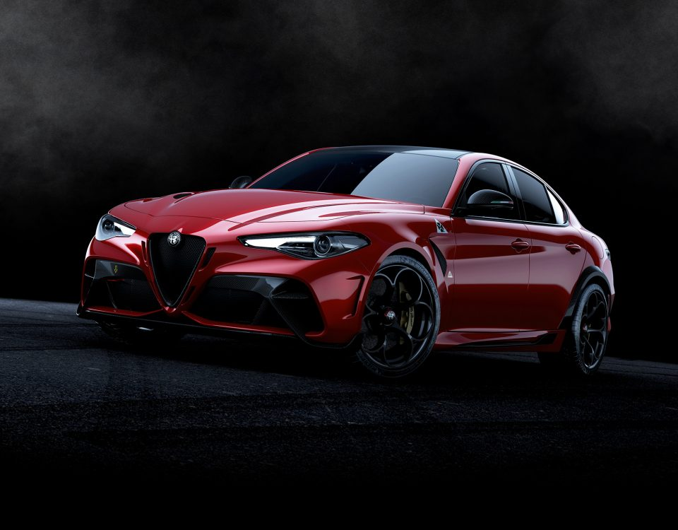 "For its 110° anniversary, Alfa Romeo reborn one of its great myths and legends of motoring, the Giulia GTA. Initials GTA stands for ""Gran Turismo lightened"""