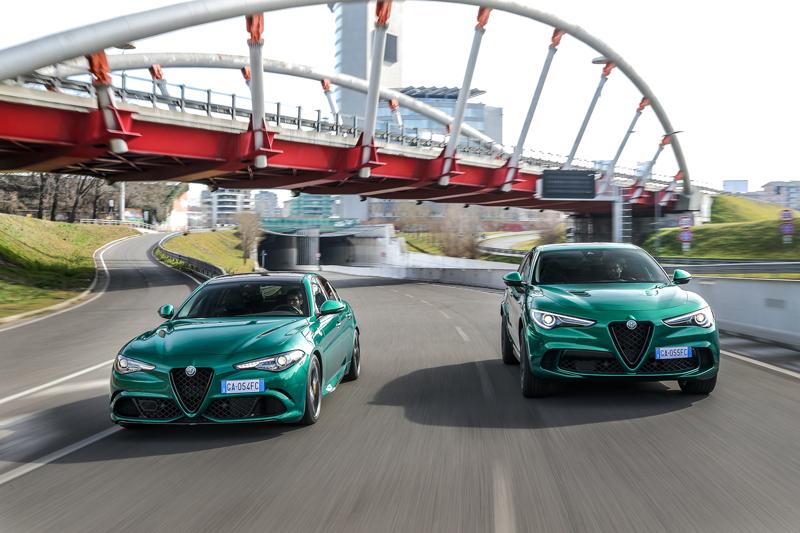 Alfa Romeo non rinuncia al suo spirito dinamico e presenta le nuove Giulia e Stelvio Quadrifoglio Model Year 2020.I colori richiamano l'heritage del marchio