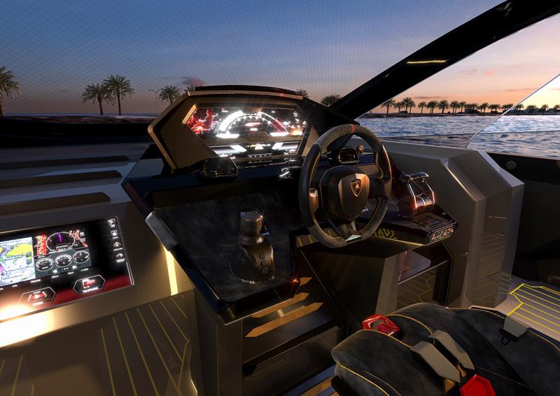 Automobili Lamborghini e The Italian Sea Group presentano in anteprima mondiale il Tecnomar for Lamborghini 63, nuovo motor yacht della flotta Tecnomar.