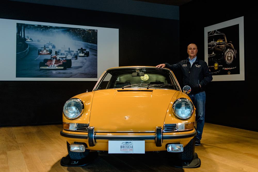 Massimo Bettinsoli classe 1968,Bresciano. L'ultima sfida sarà partecipare alla sua 16ª1000 Miglia con una Lancia Lambda del 1929.