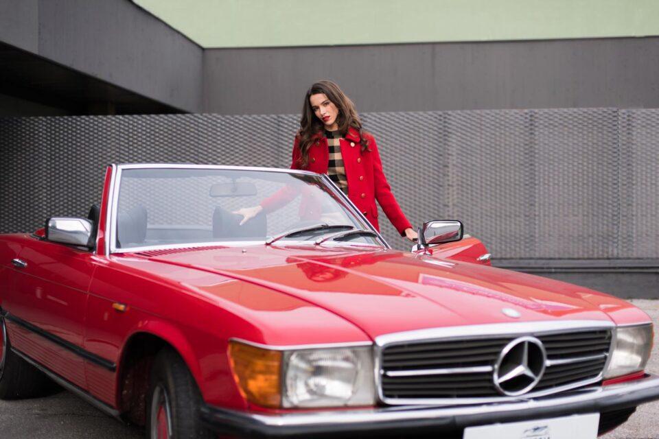 Cappotto donna rosso