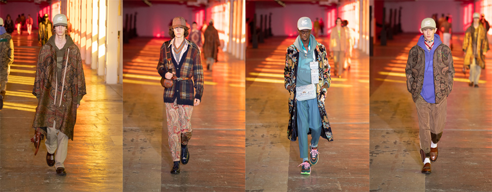 Etro con la collezione A/I 21/22 propone un nuovo messaggio nel concepire la moda. Iconoclasta, contraria ad ogni conformismo e personale.