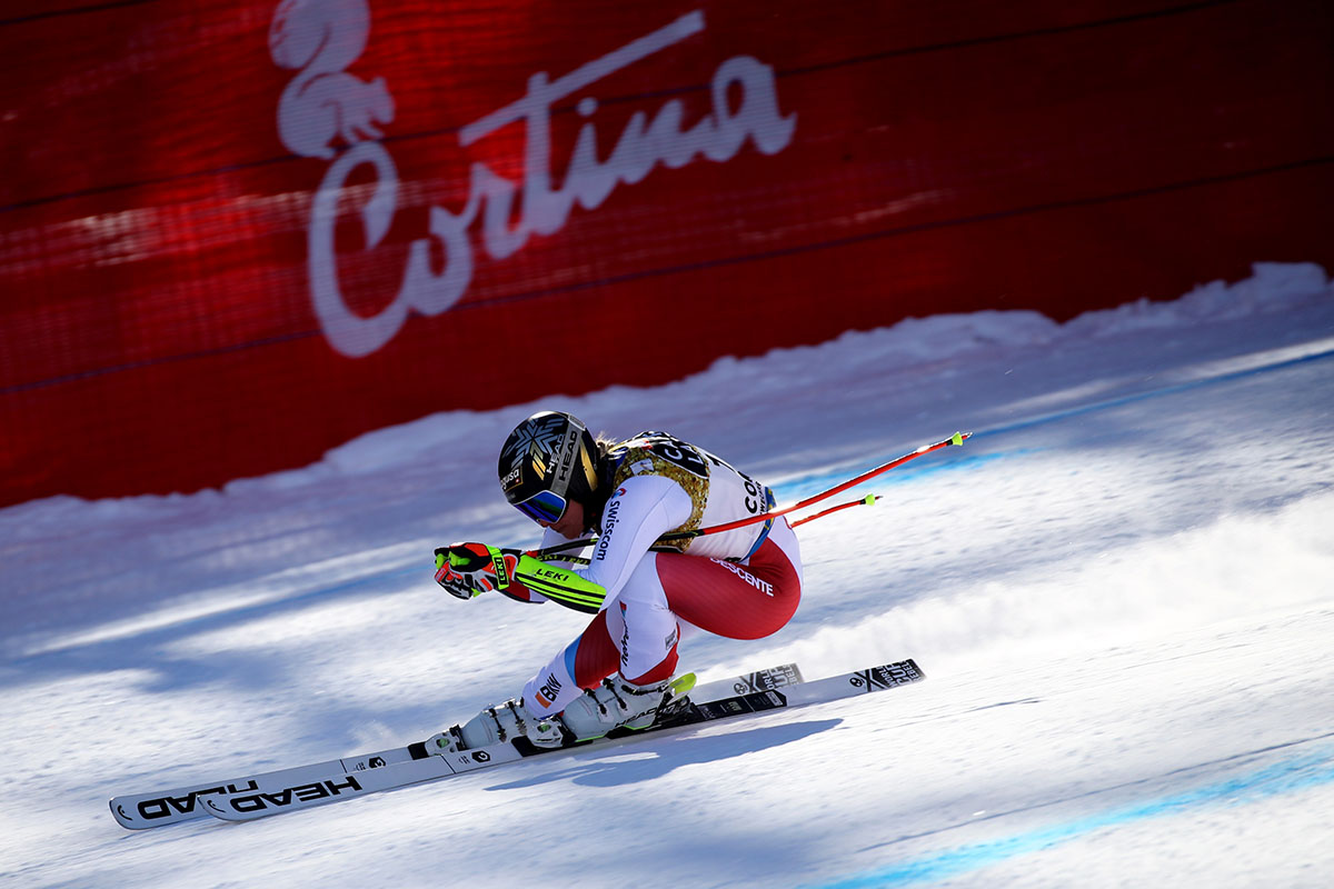 Cortina 2021 Alpine Ski World Championships. Lara Gut Behrami (SUI) in downhill Cortina d'Ampezzo