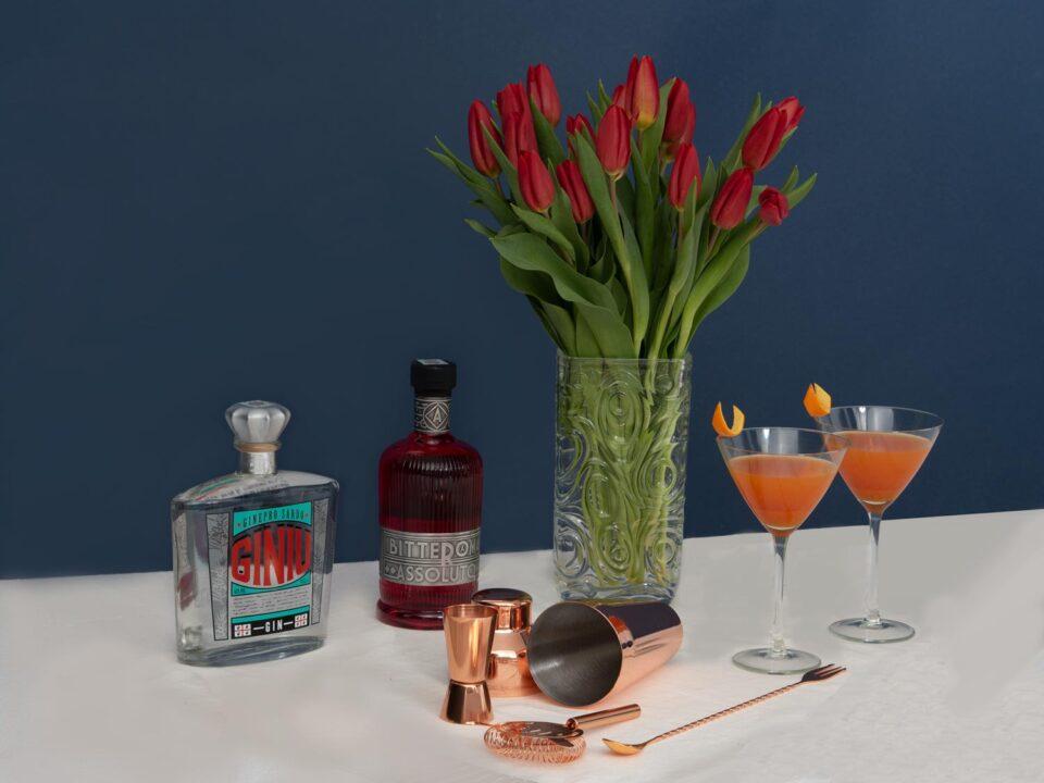 il cocktail di San Valentino ingredienti Il Giniu e il Bitter assoluto Silvio Carta