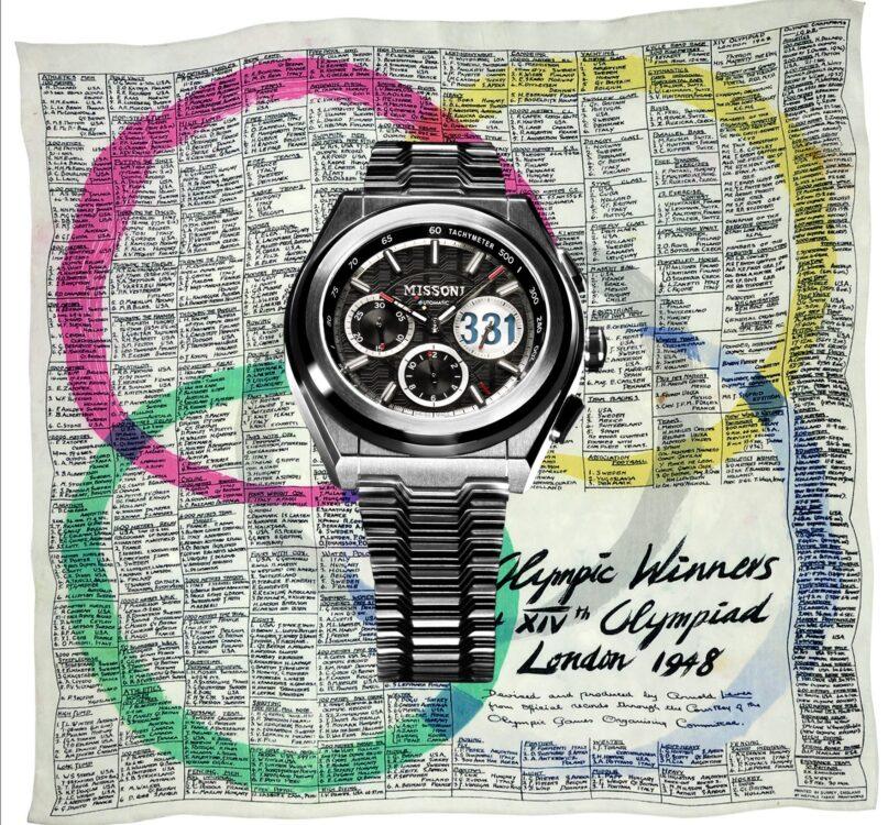 Missoni 331 Limited Edition è il nuovo cronografo di Missoni creato per omaggiare Ottavio Missoni atleta alle Olimpiadi di Londra del 1948.